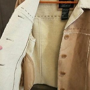 Utex Jackets & Coats - Faux Suede and faux shearling jacket